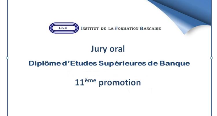 Jury oral DES Banque